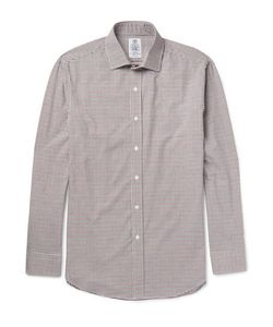 Cordings | Bramham Spread-Collar Checked Brushed Cotton Shirt