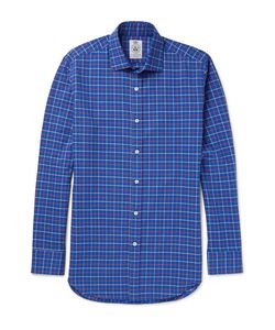 Cordings | Pheasant Checked Brushed-Cotton Twill Shirt