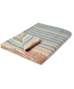 Faherty | Adirondack Striped Brushed-Cotton Jacquard Blanket
