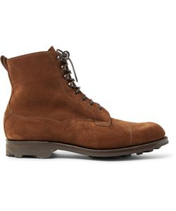 EDWARD GREEN | Galway Cap-Toe Suede Boots