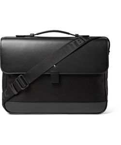 Mont Blanc | Nightflight Leather-Trimmed Nylon Briefcase