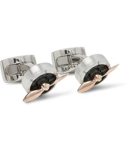 Deakin & Francis | Sopwith Propeller Aluminium Rose Gold Cufflinks