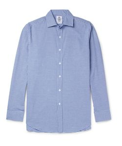 Cordings | Slim-Fit Spread-Collar Gingham Brushed-Cotton Shirt