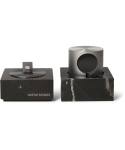 Native Union | Dock Marble Iphone And Apple Watch Charging Set
