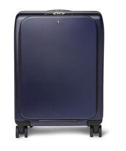 Mont Blanc | Nightflight Leather-Trimmed Hardshell Wheeled Trolley Case