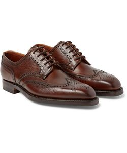 GEORGE CLEVERLEY | Henry Pebble-Grain Leather Wingtip Brogues