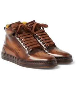 BERLUTI | Playtime Polished-Leather High-Top Sneakers