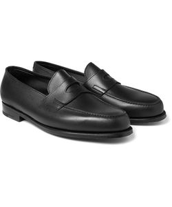 JOHN LOBB | Grained-Leather Penny Loafers