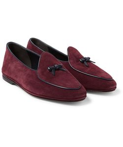 RUBINACCI | Marphy Leather-Trimmed Suede Loafers