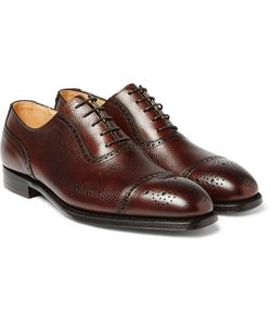 GEORGE CLEVERLEY | Adam Scotch-Grain Leather Oxford Brogues