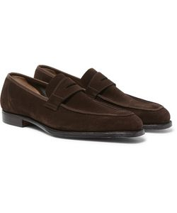 GEORGE CLEVERLEY | Suede Penny Loafers