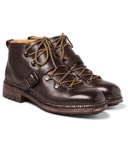 O'Keeffe | Alvis Pebble-Grain Leather Boots