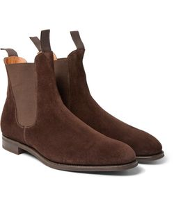 EDWARD GREEN | Newmarket Suede Chelsea Boots