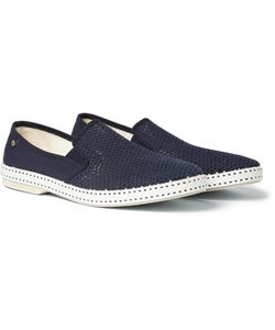 Rivieras | Cotton Mesh Slip-On Shoes