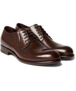 Harrys Of London   Gerrard Polished-Leather Derby Shoes