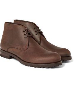 Harrys Of London   Waxed-Suede Chukka Boots