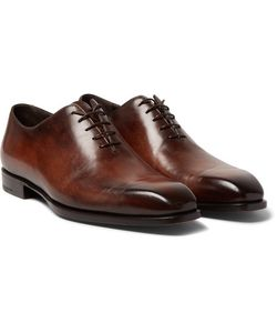 BERLUTI | Alessandro Capri Polished-Leather Whole-Cut Oxfords