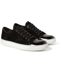 Lanvin | Suede And Patent-Leather Sneakers