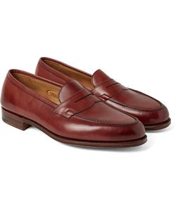 EDWARD GREEN | Duke Leather Penny Loafers