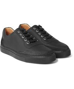 Harrys Of London   Mr. Jones 2 Suede-Panelled Matte-Leather Sneakers