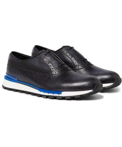 BERLUTI | Fast Track Polished-Leather Brogue Sneakers