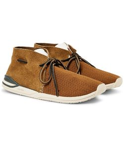 Visvim | Huron Leather-Trimmed Mesh And Suede Sneakers