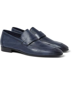 BERLUTI | Lorenzo Polished Full-Grain Leather Loafers