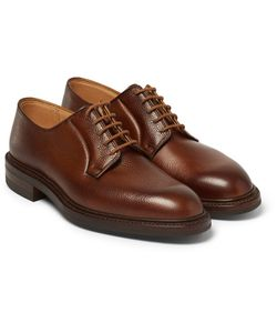 GEORGE CLEVERLEY | Pebble-Grain Leather Derby Shoes