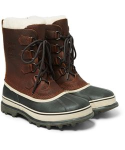 Sorel | Caribou Waterproof Full-Grain Leather And Rubber Snow Boots