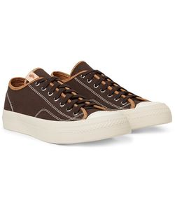Visvim | Skagway Leather-Trimmed Cotton-Canvas Sneakers