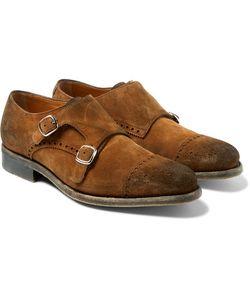 O'Keeffe | Bristol Suede Monk-Strap Shoes