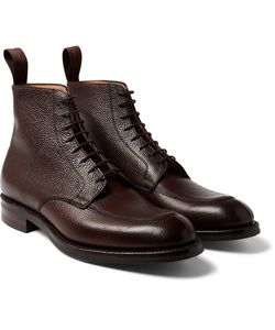 CHEANEY | Richmond Pebble-Grain Leather Boots