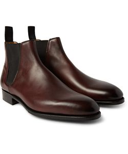 EDWARD GREEN | Camden Burnished-Leather Chelsea Boots