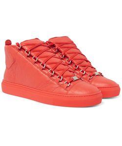 Balenciaga | Arena Creased-Leather High-Top Sneakers