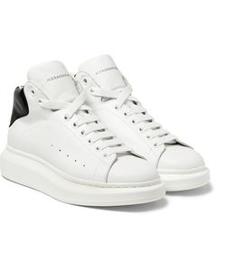 Alexander McQueen | Exaggerated-Sole Leather High-Top Sneakers