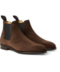 JOHN LOBB   Lawry Suede Chelsea Boots