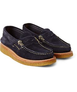 Yuketen | Suede Penny Loafers
