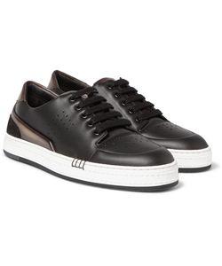 BERLUTI | Vitello Suede-Trimmed Leather Sneakers