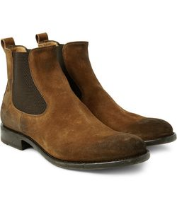 O'Keeffe | Bristol Distressed Suede Chelsea Boots
