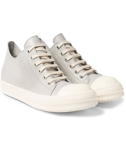 Rick Owens | Rubber-Trimmed Leather Sneakers