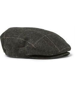 RRL | Checked Wool Flat Cap