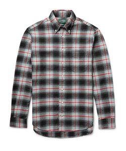 Gitman Vintage | Button-Down Collar Checked Cotton-Flannel Shirt