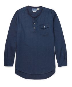 Blue Blue Japan | Collarle Cotton-Dobby Hirt