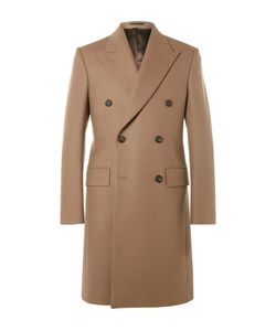 Kingsman   Slim-Fit Double-Breasted Melton Wool Overcoat