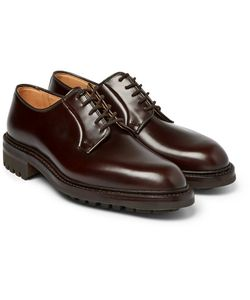GEORGE CLEVERLEY | Archie Polished-Leather Derby Shoes