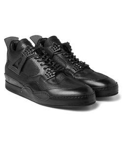 HENDER SCHEME | Mip-10 Nubuck-Trimmed Leather Sneakers