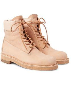 HENDER SCHEME | Mip-14 Leather-Trimmed Nubuck Boots
