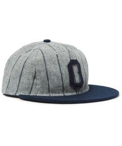 EBBETS FIELD FLANNELS | Appliquéd Striped Wool Baseball Cap