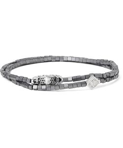 LUIS MORAIS | Hematite And Crystal Wrap Bracelet