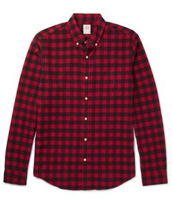 J.Crew | Slim-Fit Button-Down Collar Checked Cotton Shirt